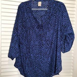 Beautiful lace-up blouse. Size 2X (18W-20W)